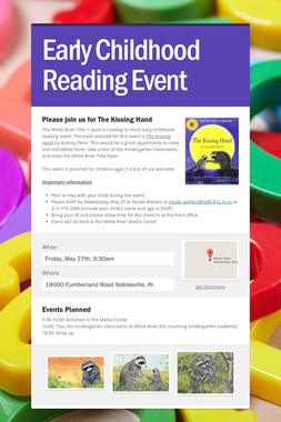Early Childhood Reading Event
