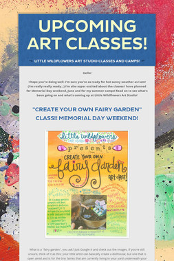 Upcoming Art Classes!