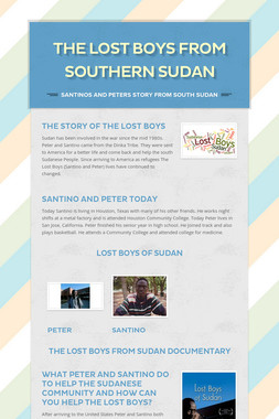 The Lost Boys From Southern Sudan