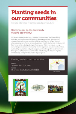 Planting seeds in our communities