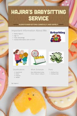 Hajira's Babysitting Service