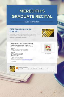 Meredith's Graduate Recital