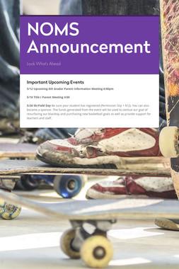 NOMS Announcement