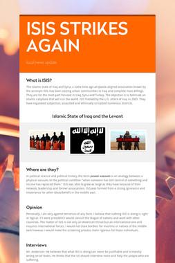 ISIS STRIKES AGAIN