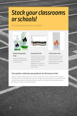 Stock your classrooms or schools!