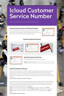 Icloud Customer Service Number