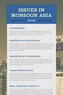 Issues in Monsoon Asia