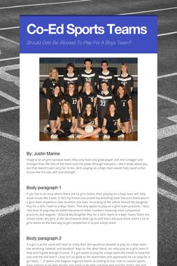 Co-Ed Sports Teams
