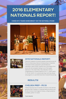 2016 Elementary Nationals Report!