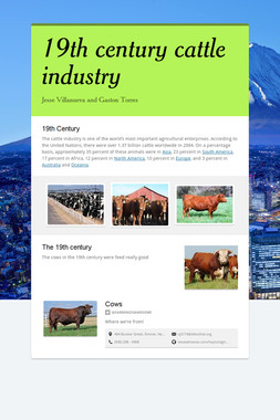 19th century cattle industry
