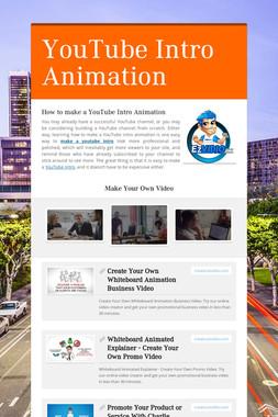 YouTube Intro Animation