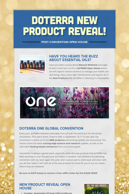 doTERRA New Product Reveal!