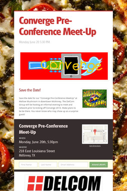 Converge Pre-Conference Meet-Up