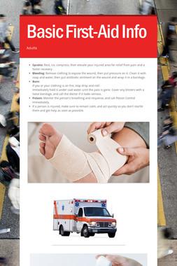 Basic First-Aid Info