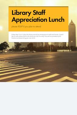 Library Staff Appreciation Lunch