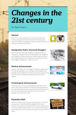 Changes in the 21st century
