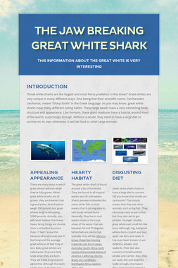 The Jaw breaking Great White Shark