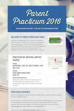 Parent Practicum 2016