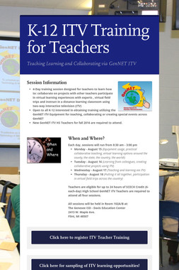 K-12 ITV Training for Teachers
