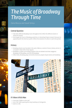The Music of Broadway Through Time