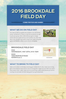 2016 Brookdale Field Day