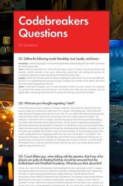 Codebreakers Questions