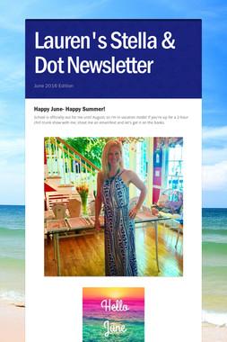 Lauren's Stella & Dot Newsletter