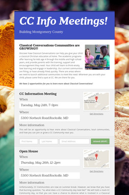 CC Info Meetings!