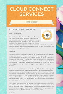 Cloud connect services
