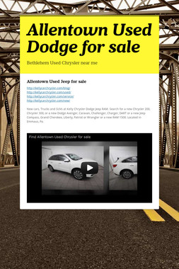 Allentown Used Dodge for sale