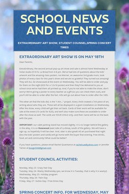 School News and Events