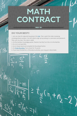 Math Contract