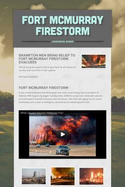 Fort McMurray Firestorm
