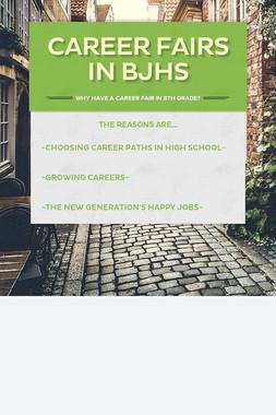 Career Fairs in BJHS