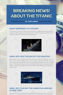 Breaking News! About The Titanic