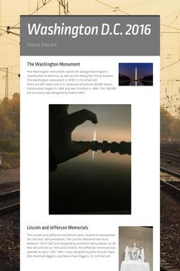 Washington D.C. 2016