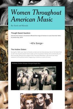 Women Throughout American Music
