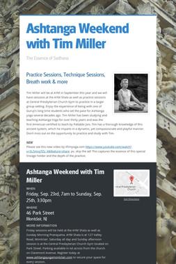 Ashtanga Weekend with Tim Miller