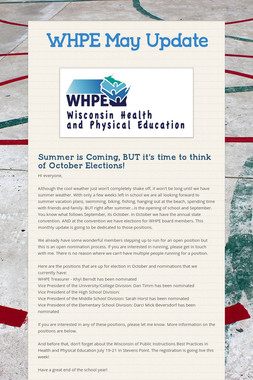 WHPE May Update