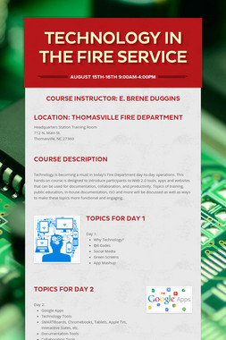 Technology in the Fire Service
