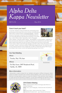 Alpha Delta Kappa Newsletter