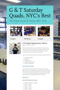 G & T Saturday Quads, NYC's Best