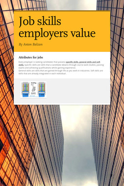 Job skills employers value