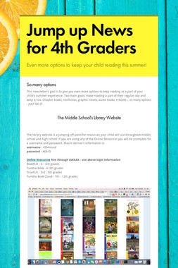 Jump up News for 4th Graders