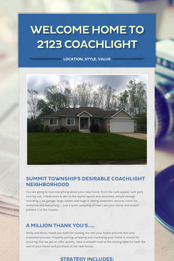 Welcome Home to 2123 Coachlight