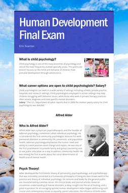 Human Development Final Exam