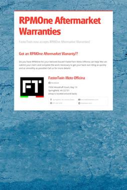 RPMOne Aftermarket Warranties