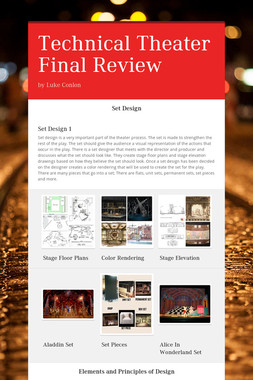 Technical Theater Final Review