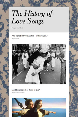 The History of Love Songs