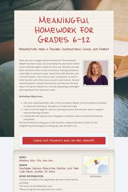 Meaningful Homework for Grades 6-12